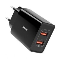 Сетевое зарядное устройство Baseus Speed Mini QC Dual U Charger 18W (2 USB) - Black (CCFS-V01)
