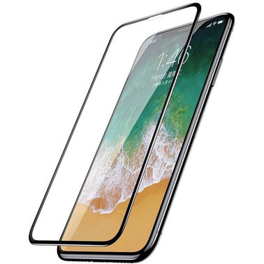 Защитное стекло Baseus 0.3mm Silk-screen All-screen Glass Film для Apple iPhone X/Xs - Black (SGAPIPHX-KC01)