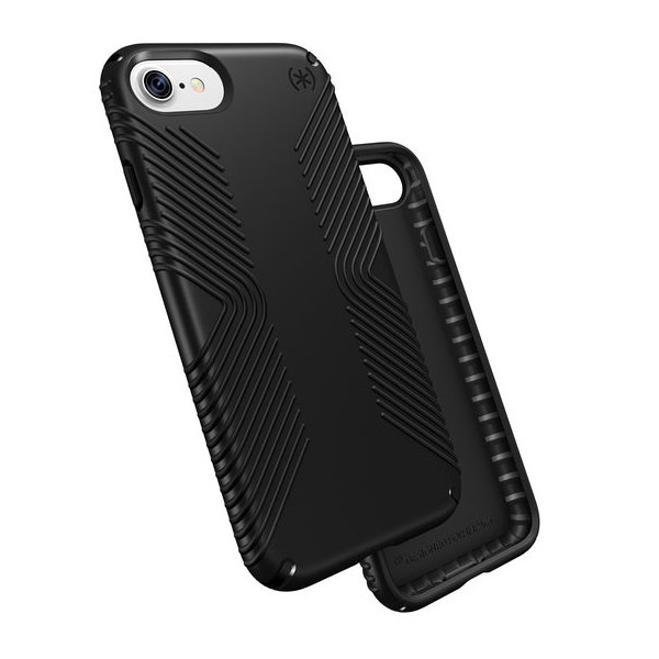 Чехол-накладка для iPhone 7/8/SE - Speck Presidio Grip - Black/Black (SP-79987-1050)