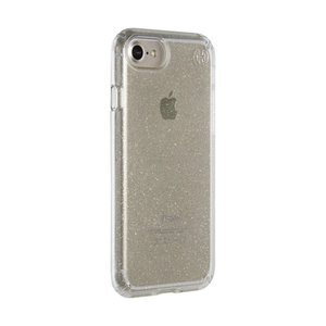 Чехол-накладка для iPhone 7/8/SE - Speck Presidio Clear - Gold Glitter/Clear (SP-79989-5636) - фото 2