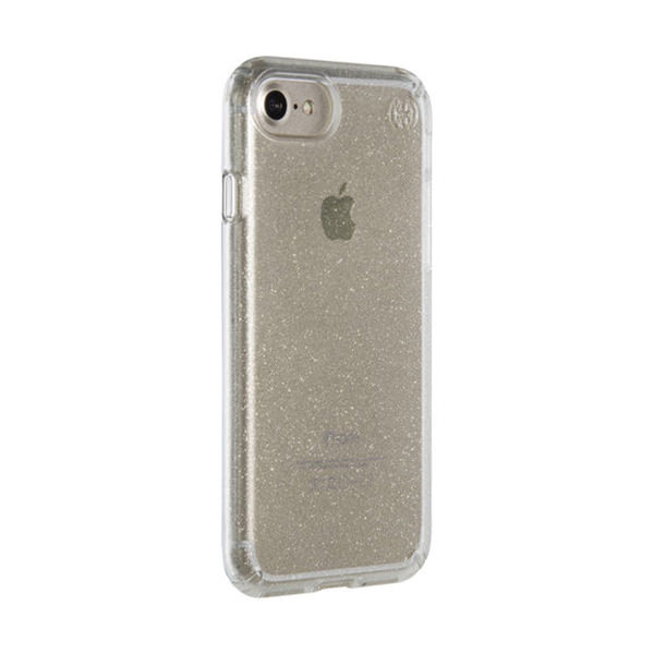 Чехол-накладка для iPhone 7/8/SE - Speck Presidio Clear - Gold Glitter/Clear (SP-79989-5636)