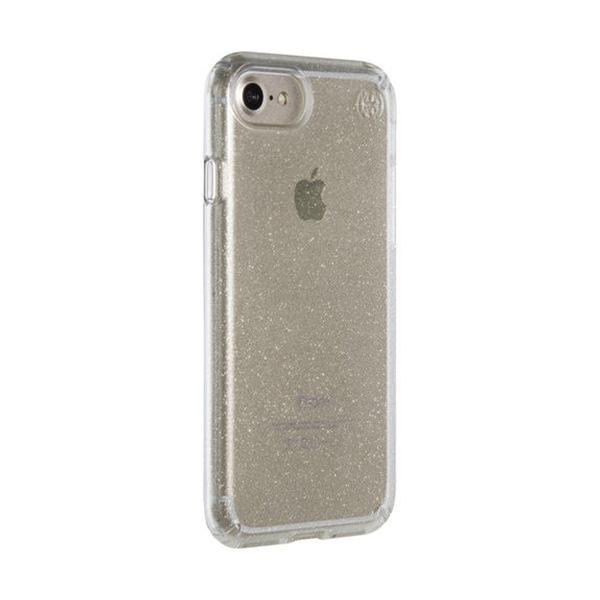 Чехол-накладка для iPhone 7/8 - Speck Presidio Clear - Gold Glitter/Clear (SP-79989-5636)