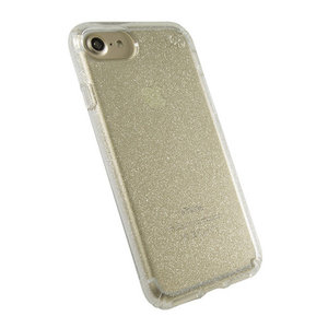 Чехол-накладка для iPhone 7/8/SE - Speck Presidio Clear - Gold Glitter/Clear (SP-79989-5636) - фото 1