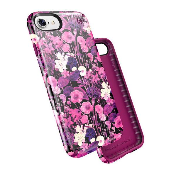 Чехол-накладка для iPhone 7/8/SE - Speck Presidio Inked - Floweretch Pink/Magenta Pink (SP-79990-5755)