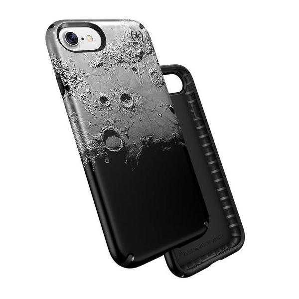 Чехол-накладка для iPhone 7/8/SE - Speck Presidio Inked - Darkmoon Black Metallic/Black (SP-79990-5756)