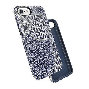 Чехол-накладка для iPhone 7/8/SE - Speck Presidio Inked - Shiboritile Blue Matte/Marine Blue (SP-79990-5757) - фото 1