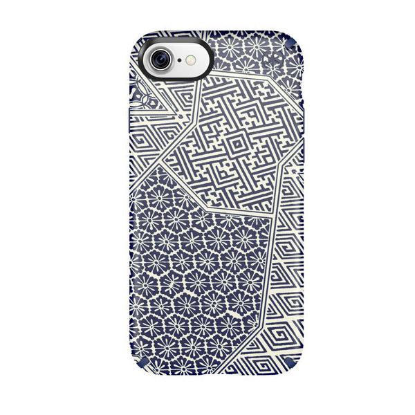 Чехол-накладка для iPhone 7/8 - Speck Presidio Inked - Shiboritile Blue Matte/Marine Blue (SP-79990-5757)