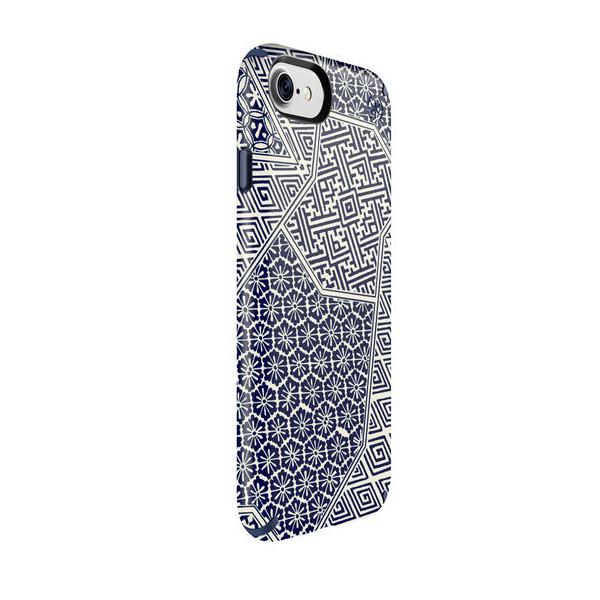 Чехол-накладка для iPhone 7/8/SE - Speck Presidio Inked - Shiboritile Blue Matte/Marine Blue (SP-79990-5757)