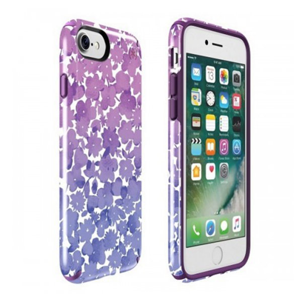 Чехол-накладка для iPhone 7/8 - Speck Presidio Inked - Watercolorfloral Purple (SP-79990-5759)
