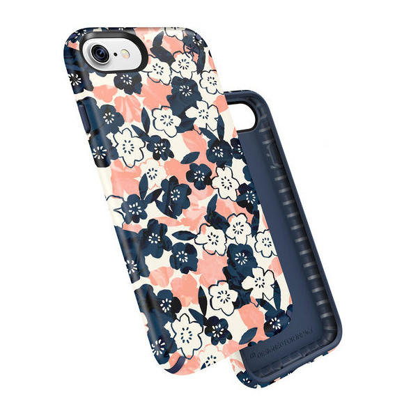 Чехол-накладка для iPhone 7/8 - Speck Presidio Inked - Marbledfloral Peach Mat/Marine (SP-79990-5760)