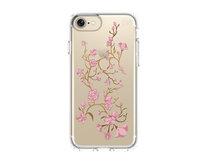 Чехол-накладка для iPhone 7 - Speck Almond Presidio - Clear Print Golden Blossoms Pink (SP-79991-5754)