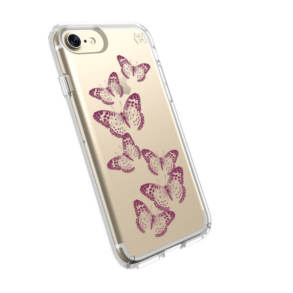 Чехол-накладка для iPhone 7/8/SE - Speck Presidio Clear - Brilliantbutterflies (SP-79991-5947)