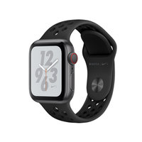 Apple Watch Series 4 Nike+ (GPS + Cellular) 40mm Space Gray Aluminum w. Anthracite/Black Nike Sport (MTX82)