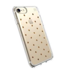 Чехол-накладка для iPhone 7/8/SE - Speck Presidio Clear - Etcheddot Silver/Clear (SP-79991-5752) - фото 1