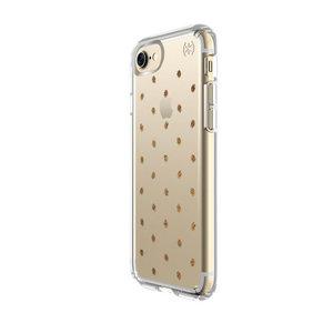 Чехол-накладка для iPhone 7/8/SE - Speck Presidio Clear - Etcheddot Silver/Clear (SP-79991-5752) - фото 3