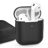 Чехол для Apple AirPods AHASTYLE Silicone Case for Apple AirPods - Black (AHA-01020-BLK)