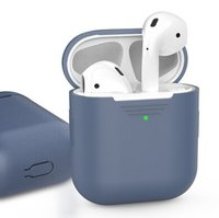 Чехол для Apple AirPods AHASTYLE Silicone Case for Apple AirPods - Navy Blue (AHA-01020-NBL)