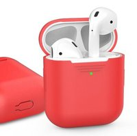 Чехол для Apple AirPods AHASTYLE Silicone Case for Apple AirPods - Red (AHA-01020-RED)
