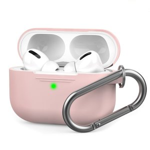 Чехол AHASTYLE Silicone Case with Carabiner for Apple AirPods Pro – Pink (AHA-0P100-PNK)