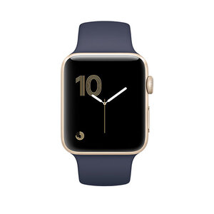 Apple Watch Series 2 42mm Gold Aluminum Sport Band Midnight Blue (140–210mm)(MQ152)