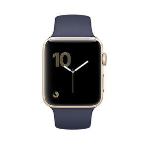 Apple Watch Series 2 42mm Gold Aluminum Sport Band Midnight Blue (140–210mm)(MQ152)