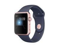 Apple Watch Series 1 42mm Rose Gold Aluminum Sport Band Midnight Blue (140-210mm)(MNNM2)