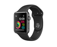 Apple Watch Series 1 42mm Space Gray Aluminum Sport Band Black (140-210mm)(MP032)