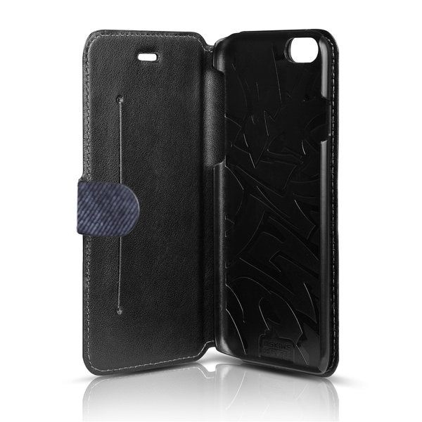 Чехол-книжка для iPhone 6 - ITSKINS Angel - Black/Blue (APH6-ANGEL-BKBL)