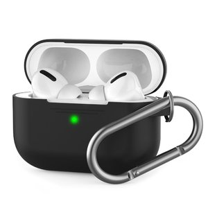 Чехол AHASTYLE Silicone Case with Carabiner for Apple AirPods Pro – Black (AHA-0P100-BLK)