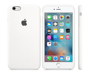 Чехол-накладка для iPhone 6 Plus/6s Plus - Apple Silicone Case - White (MKXK2) - фото 1