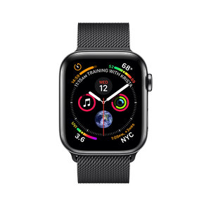 Apple Watch Series 4 (GPS+Cellular) 40mm Space Black Stainless Steel Case With Space Black Milanese Loop (MTUQ2) - фото 1