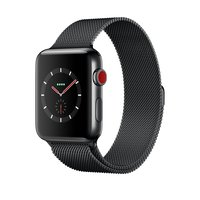 Apple Watch Series 3 (GPS + Cellular) 42mm Space Black Stainless Steel w. Space Black Milanese Loop (MR1V2)