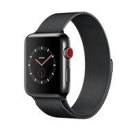 Apple Watch Series 3 (GPS + Cellular) 42mm Space Black Stainless Steel w. Space Black Milanese Loop (MR1V2)
