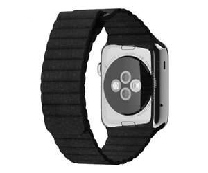 Apple Watch 42mm Stainless Steel Leather Loop Black (150 -185mm)(MJYN2)