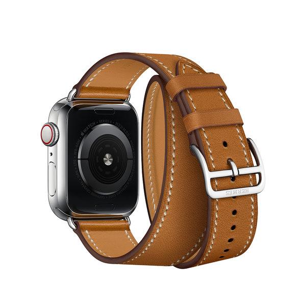 Apple Watch Hermes Series 4 GPS + LTE 40mm Fauve Barenia Leather Double Tour (MU6P2)
