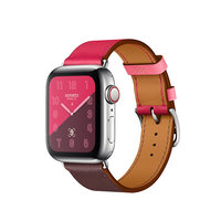 Apple Watch Hermes Series 4 GPS + LTE 40mm Steel c. w. Bordeaux/Rose/Swift Single Tour (MU6N2)