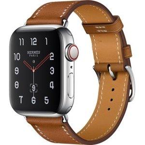 Apple Watch Hermes Series 4 GPS + LTE 40mm Steel w. Fauve Grained Barenia Leather (MU6M2)