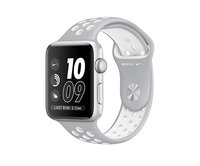 Apple Watch Nike+ 42mm Silver Aluminum Nike Sport Band Flat Silver/White (140-210mm)(MNNT2)