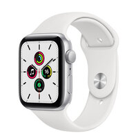 Apple Watch SE GPS 40mm Silver Aluminum Case with White Sport Band (MYDM2)