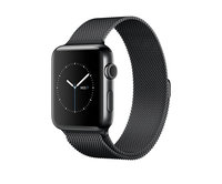 Apple Watch Series 2 42mm Space Black Stainless Steel Milanese Loop Space Black (150–200mm)(MNQ12)