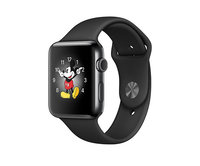 Apple Watch Series 2 42mm Space Black Stainless Steel Sport Band Black (140-210mm)(MP4A2)