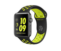 Apple Watch Nike+ 42mm Space Gray Aluminum Nike Sport Band Black/Volt (140–210mm)(MP0A2)