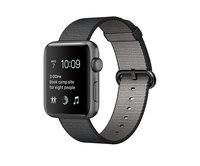Apple Watch Series 2 42mm Space Gray Aluminum Woven Nylon Black (145–215mm)(MP072)