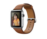Apple Watch Series 2 42mm Stainless Steel Classic Buckle Saddle Brown (150–215mm)(MNPV2)