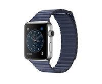 Apple Watch Series 2 42mm Stainless Steel Leather Loop Midnight Blue (180-210mm)(MNPX2)