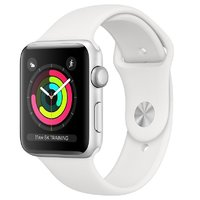 Apple Watch Series 3 (GPS) 42mm Silver Aluminium Case with White Sport Band (MTF22)