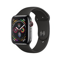 Apple Watch Series 4 (GPS+Cellular) 40mm Space Black Stainless Steel Case With Blk Sport B. (MTUN2)
