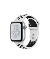 Apple Watch Series 4 Nike+ (GPS) 40mm Silver Aluminum w. Pure Platinum/Black Nike Sport B.(MU6H2)