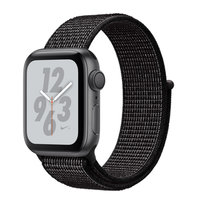 Apple Watch Series 4 Nike+ (GPS) 40mm Space Gray Aluminum Case with Black Nike Sport Loop (MU7G2)
