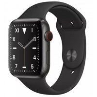 Apple Watch Series 5 LTE 44mm Space Black Titanium Case with Black Sport Band (MWR52)